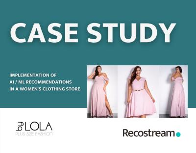 Case Study product recommendation system in online clothing store